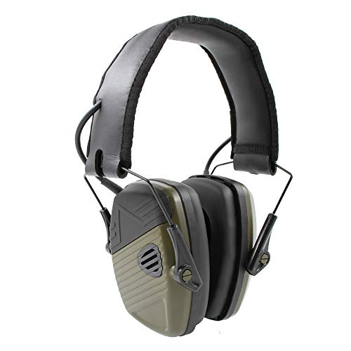 Schießen Faltbarer Gehörschutz, Inf Protear Noise Reduction Safety Ohrenschützer mit Geräuschverstärkung und automatischer Geräuschunterdrückung, für Schießen und Jagen, NRR 22 dB