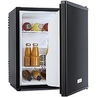 Klarstein MKS-5 - Minibar, Mini Nevera, Nevera para Bebidas, Clase A, 40 litros, Silenciosa, 30 dB, 43 x 51 x 48 cm (An x Al x Pr), Compartimento para Botellas, Exterior Negro Mate, Negro