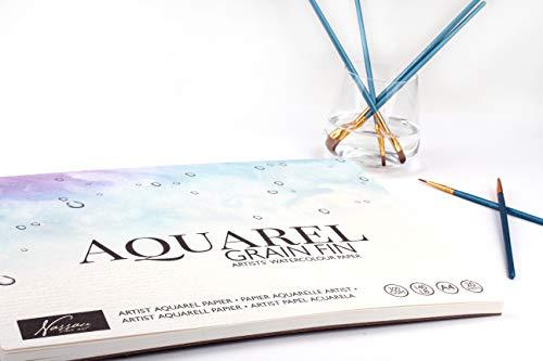Papier aquarelle A4 Pour artistes | 20 pages | Grammage : 300 g/m² | Papier aquarelle haut de gamme pour peindre avec des aquarelles & techniques mixtes | Papier de qualité pour des couleurs parfaites