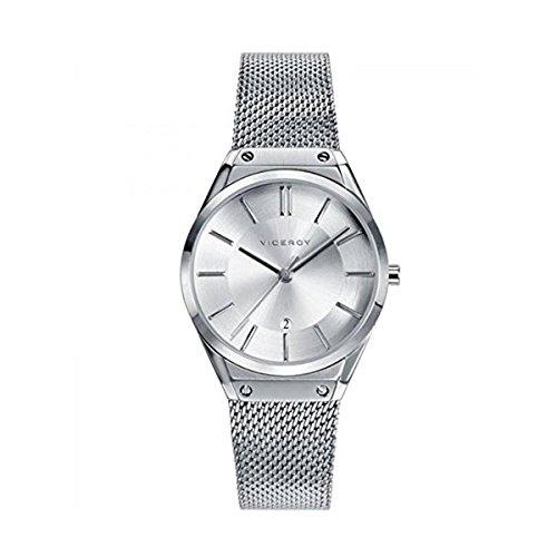 Viceroy Reloj Analogico para Mujer de Cuarzo con Correa en Acero Inoxidable 42234-07