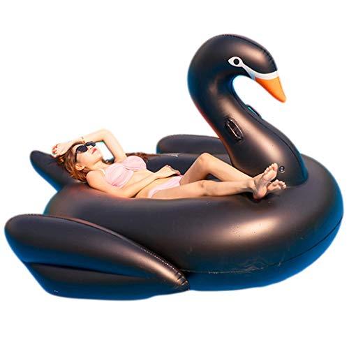 Flotador Inflable Gigante De Cisne Negro Para Piscina Juguete De Montaje Inflable De Agua...