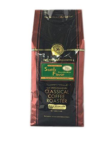 コーヒー豆 シアトルフレイバー ブレンド コーヒー 500g ( 1.1lb ) 【 豆のまま 】 クラシカルコーヒーロースター アラビカ豆 100%