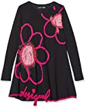 Desigual Dress Papaya Robe, Noir (Negro 2000), 8 Ans Fille