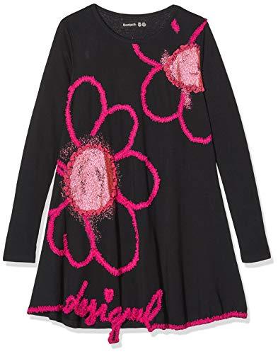 Desigual Mädchen Dress Papaya Kleid, Schwarz (Negro 2000), 104 (Herstellergröße: 3/4)