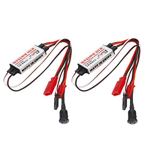 sharprepublic Interruptor de Apagado del Aeroplano RC del Motor de Gas 2pcs para El Aeroplano RC