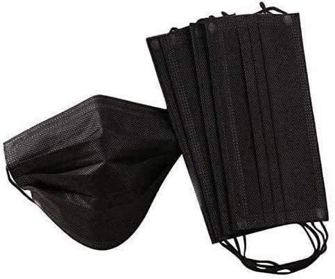 Ellaao 50 Piezas 4 Capas, Negro, Protege La Boca Y La Boca, Evita El Contacto De Polvo Y La TransmisióN, Limpia/Exterior