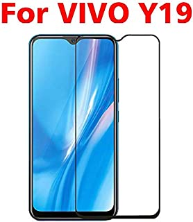 Jellyfish-Phone Screen Protectors - 3D Full Glue Tempered Glass For VIVO Y19 Full Screen Cover 9H Explosion proof Screen Protector Film For VIVO Y19 (Black For VIVO Y19)