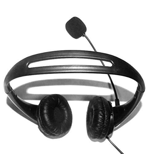 DaMohony - Auriculares con cable USB, con micrófono oculto de ruido, para ordenador portátil, teléfono con cable