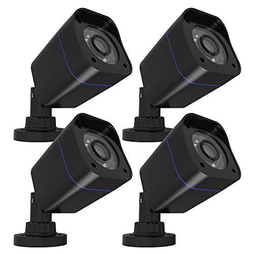 Rraycom Home Security Camera HD 2000TVL 18PCS SMD LEDs 3.6mm Lens with IR Cut CCTV Camera Day/Night Waterproof 4Pack