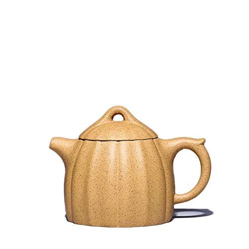 ZJN-JN Teapot Set Electronic Multimeter Teapot Yixing Dingshu Town Zisha Pot Raw Ore Sesame Segment Mud Kit Qinquan Teapot 260ml (Color : Gold Sesame Section mud) Home Decoration Present