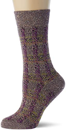 FALKE Damen Gleaming Court W SO Socken, lila (violetta 8975), 41-42 (UK 7-8 Ι US 9.5-10.5)