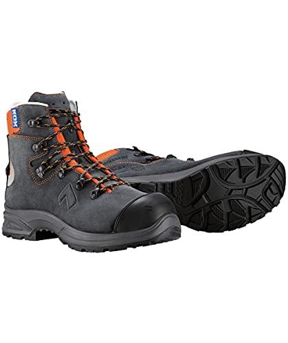 Haix KOX Protector Low 2.0 Schnittschutzstiefel, Grau/Orange, Größe 44