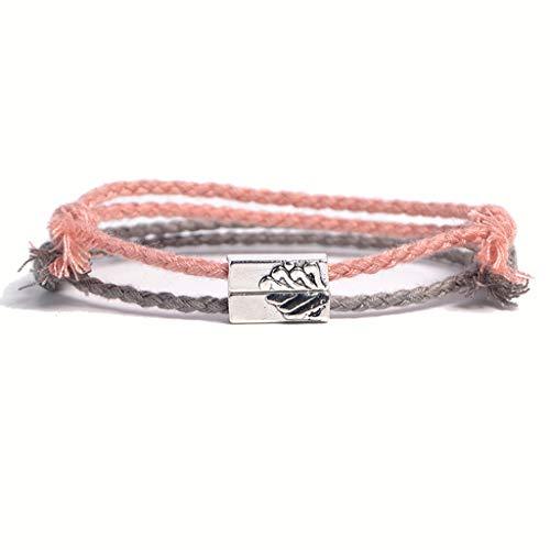 Kcnsieou 2 pulseras de la amistad talladas con cuerda trenzada para amantes de las montañas.