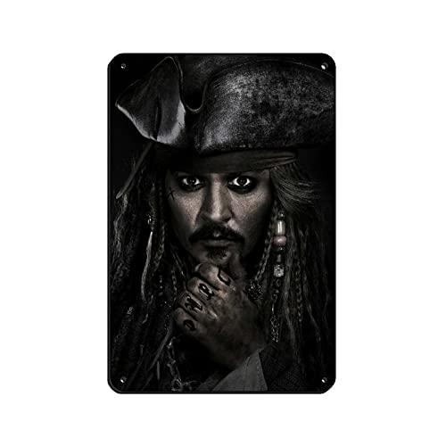 Póster de la película Western Movies Piratas del Caribe Muertos Hombres Tell No Tales 5 Tin Brand Retro Metal Bar Home Wall Art Póster Decoración Retro 20 × 30 cm