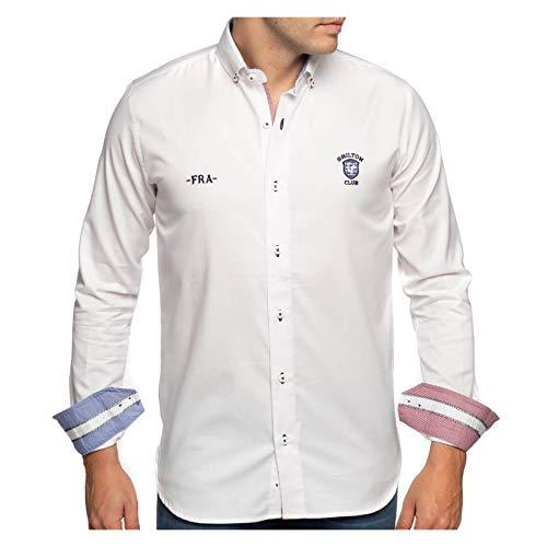 Shilton Rugby-Shirt, langärmelig Gr. XXL, weiß