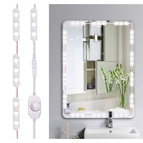 Bweele LED Spiegelleuchte,Schminktisch Beleuchtung Spiegel Beleuchtung Dimmbar Schminklicht Make-up Lampe Hollywood-Stil LED Spiegelleuchte Schminktisch für Schlafzimmer Badezimmer