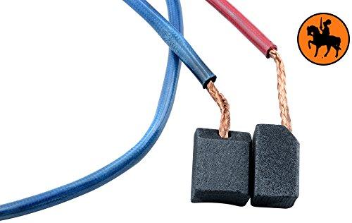 Buildalot Specialty koolborstels ca-03-65519 voor Milwaukee cirkelzaag V28MS - 12x9,52x15,5 mm - met kabel en stekker - vervanging voor originele onderdelen 22181250