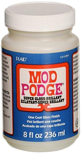Mod Podge 8 Oz Super Glanz Finish Schicht, Synthetisches Material, Weiss, 10.8 x 6.4 x 6.4 cm