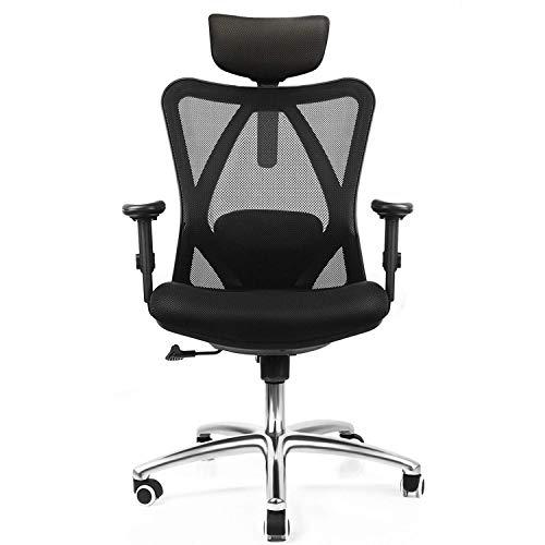Mesh bureaustoel, tekening krukstoel, staande bureaustoel met verstelbare hoogte voetsteun, ergonomische schilderstoel kan dragen 120 kg zwart