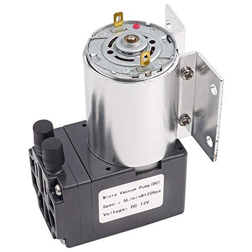 Microbomba 5L / min 120KPa Bomba de succión de presión negativa DC 12V de alta eficiencia Bomba de succión de vacío en miniatura Silenciosa para análisis de gas Muestreo industrial