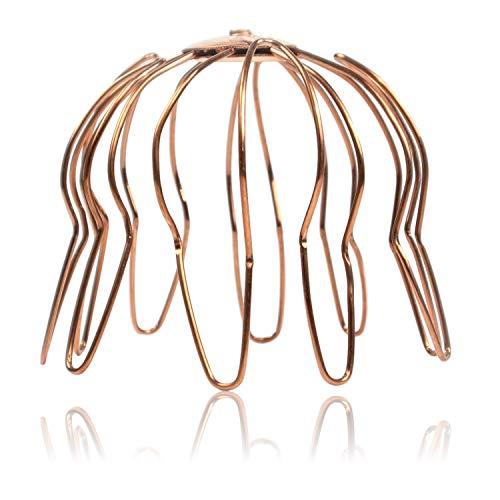 Laubfang Rinnensieb Kupfer 100 mm - Dachrinnen Sieb als Laubschutz für den Ablaufstutzen, Laubsieb korrosions- und UV-beständig, Laubfangkorb DN 100