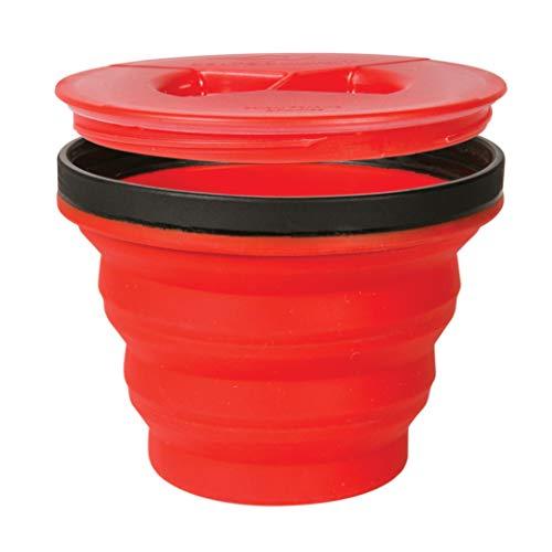 Sea to Summit X-Seal Go Pliable récipient Bol de Camping avec Couvercle hermétique Lave-Vaisselle, Mixte, Red, 14 Ounce
