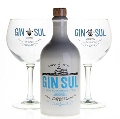 GIN SUL (1x500ml) mit 2 Gin Sul Ballongläser