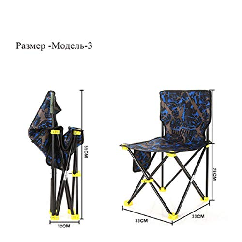 YLCJ opvouwbare draagbare strandtas visstoel klapstoel Oxford Light Camping Chair stoel model3
