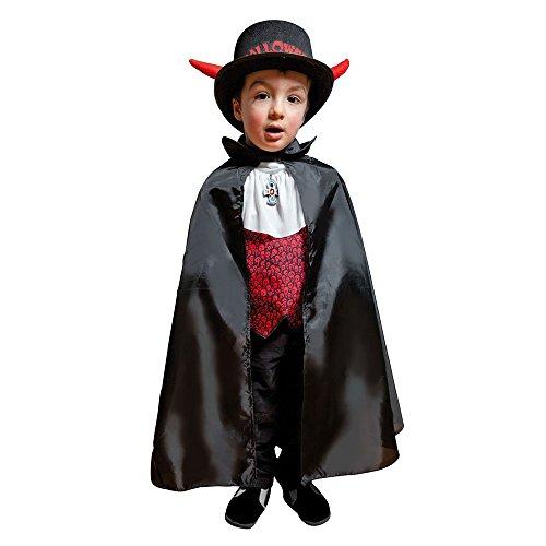 P'tit Clown - 16202 - Cape Tissu Enfant Polyester - 67 cm - Taille Unique - Noir