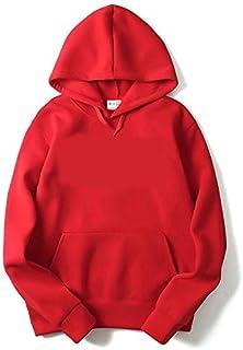 THE SV STYLE Unisex Plain RED Hoodie/Plain Red Hoodie/Graphic Printed Hoodie/Hoodie for Men & Women/Warm Hoodie/Unisex Hoodie