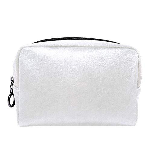 TIZORAX Ivoor Off Wit Textuur Make-up Bag Toilettas voor Vrouwen Skincare Cosmetische Handy Pouch Rits Handtas