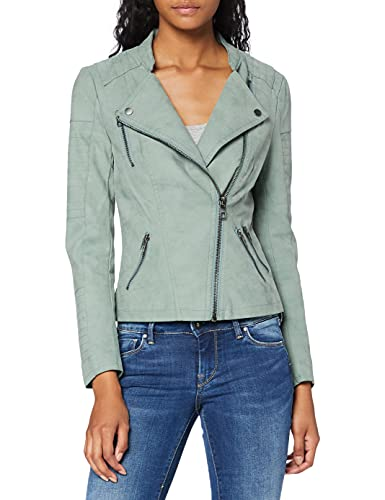 ONLY Damen Onlava Faux Leather Biker Otw Noos Jacke, Grün (Chinois Green Chinois Green), 38 EU