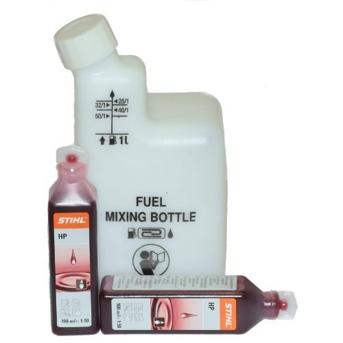 2 x Two Stroke Oil Stihl Sachets & Mixing Bottle For Chainsaw Fuel/Petrol