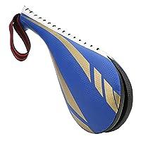 テコンドーキックターゲット、テコンドートレーニングパッドテコンドートレーニングのスパーリングのための空手のためのムエタイのための良い排気キックターゲット(blue, S)