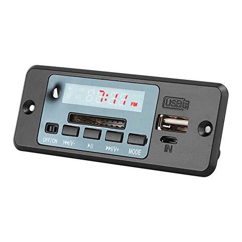 Dpofirs Tarjeta Decodificadora de MP3,Audio Decoder Module USB Radio FM MP3,Tablero de Decodificación Universal con Amplificador de Potencia,Tablero Decodificador de MP3 Reproductor de Música(Negro)