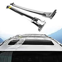 Lexus LX570 2016-2020クロスバー荷物手荷物クロスルーフラックバーに適合するステン