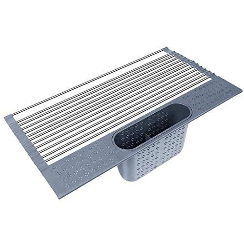Abtropfgestell für Geschirr, Kitchen Spülbecken Abtropfgestell Aufrollbares Geschirrgestell über der Spüle - Zusammenklappbares Geschirr-Abtropfgestell für die Küchenspüle (44 * 38cm)