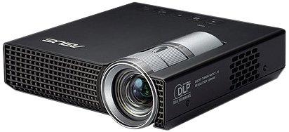 Asus P1 DLP-Projektor (LED, Kontrast 1600:1, 200 ANSI Lumen, WXGA, 1280 x 800) schwarz