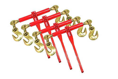 4 Ratchet Load Binders 3/8-1/2 Boomer Chain Equipment Tiedown Hauling