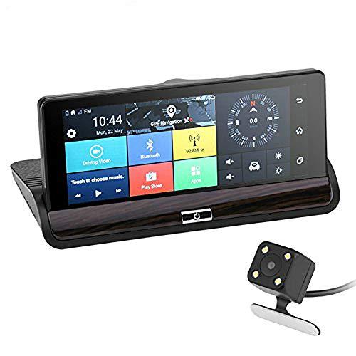Bw Android Système de caméra de voiture – écran tactile 17,3 cm, prise en charge de deux appareils photos, Android 5.0, 3 G, WiFi, Google Play, GPS, G-Sensor