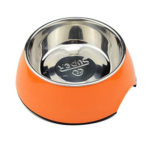 SOAR Vogelfutterhaus Vogelhäuschen Applikationen Dog Basin Edelstahl Dual-Use-Anti-Rutsch-Wear-Resistant Fressnapf Cat Food Bowl Pet Bowl (Size : Diameter 14cm)