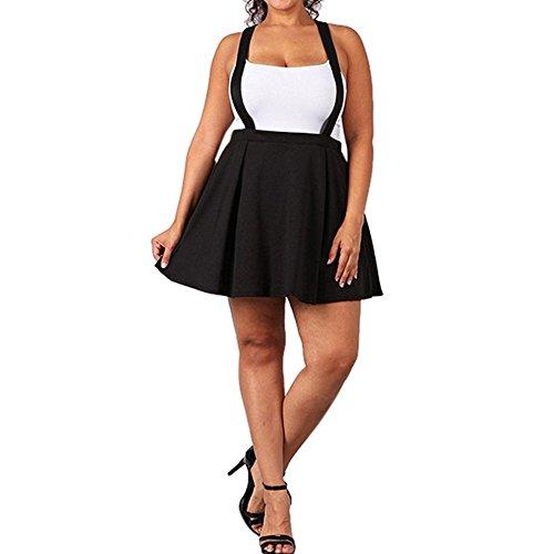 Primavera y otoño Nueva Tamaño Grande La Correa Moda Mujer Alta Cintura Plisada Color sólido Media Longitud Falda elástica promociones señora