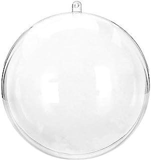WARMWORD Bolas de Navidad,Bolas Navideña Personalizada Transparente, Bola Rellenable de Navidad, Fiesta, Bodas, Bola Colgante Decoración de Navidad DIY[Diámetro: 8 cm]