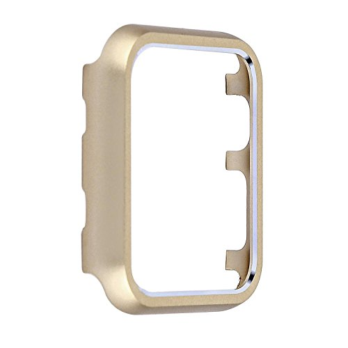 Angeland Metal Protective Smartwatch Bumper 38mm, Matte Finish Aluminum Alloy Frame Cover Case Compatible with Apple Watch 38mm Series 3, Series 2, Series 1 - Champagne Gold