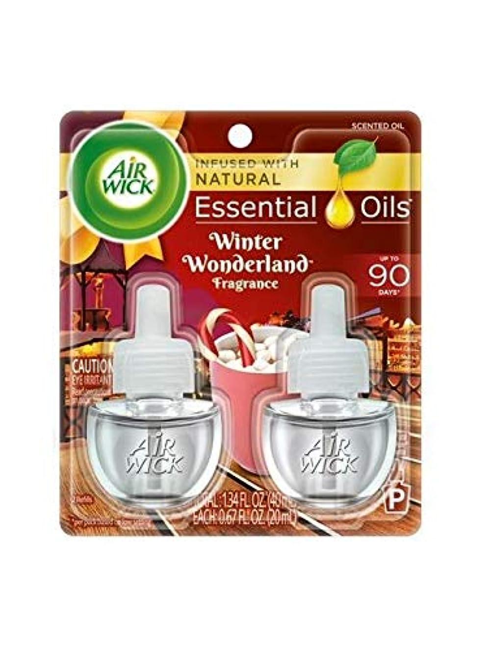 穏やかな磁石ドアミラー【Air Wick/エアーウィック】 プラグインオイル詰替えリフィル(2個入り) ウィンターワンダーランド Air Wick Scented Oil Twin Refill Winter Wonderland (2X.67) Oz. [並行輸入品]