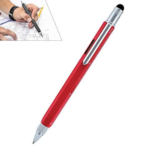 6 in 1 Kugelschreiber,Metall-Kugelschreiber in schlanker Form,eleganter Drehkugelschreiber für Büro und Arbeitsplatz von