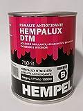Esmalte antioxidante brillante HEMPALUX DTM NEGRO 0,75 L.