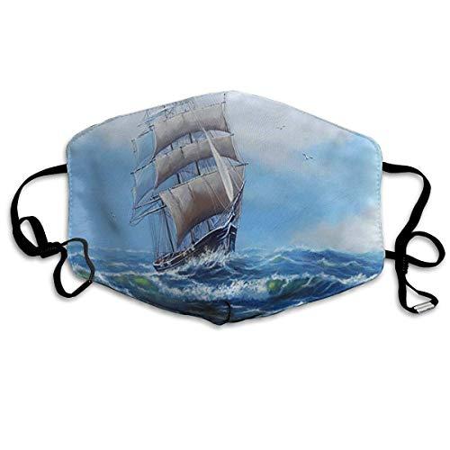 Wiederverwendbarer und waschbarer Staub Schiff Meeröl Gemälde Landschaft Kunst