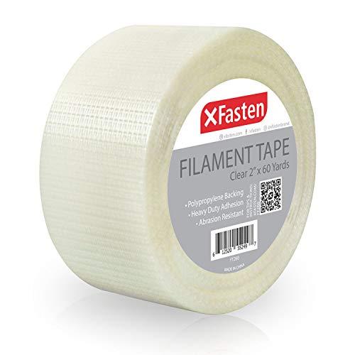 XFasten Heavy Duty Filament Tape, 2 Inch by 60 Yards
