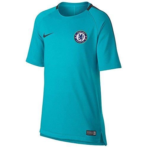 Nike 2017-2018 Chelsea Training Football Soccer T-Shirt Maillot (Omega Blue) - Kids